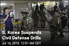S. Korea Suspends Civil Defense Drills