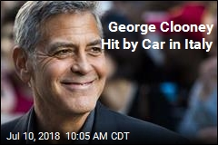 George Clooney Hit by Car in Italy