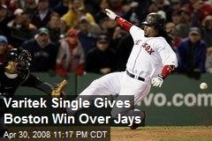 Varitek Single Gives Boston Win Over Jays