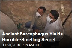 Ancient Sarcophagus Yields Horrible-Smelling Secret