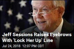 Jeff Sessions Laughs at 'Lock Her Up' Chant