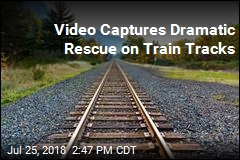Video Captures Dramatic Rescue on Train Tracks