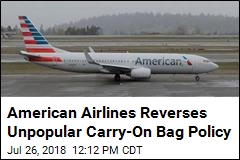 American Airlines Reverses Unpopular Carry-On Bag Policy