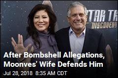Leslie Moonves' Wife Comes to His Defense