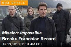 Mission: Impossible Shoots for No. 1