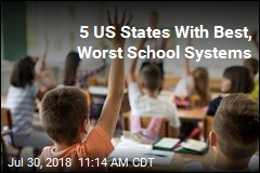 5 US States With Best, Worst School Systems
