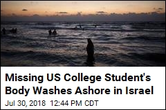 Missing US College Student's Body Washes Ashore in Israel