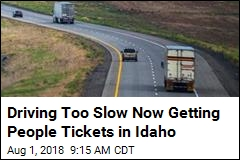 Thanks to New Idaho Law, 2 'Slowpokes' Get Tickets