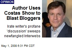 Author Uses Costas Show to Blast Bloggers