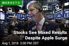 Stocks See Mixed Results Despite Apple Surge