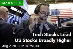 Tech Stocks Lead US Stocks Broadly Higher