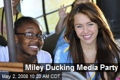 Miley Ducking Media Party