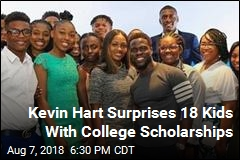 Kevin Hart Surprises 18 Kids With College Scholarships