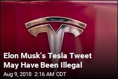 Musk Tweets May Have Broken Securities Laws