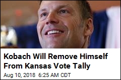 Kobach Will Remove Himself From Kansas Vote Tally