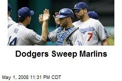 Dodgers Sweep Marlins