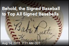 Behold, the Signed Baseball to Top All Signed Baseballs