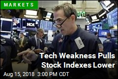 Tech Weakness Pulls Stock Indexes Lower