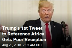 Trump's 1st Tweet to Reference Africa Gets Poor Reception