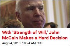 John McCain to No Longer Undergo Cancer Treatment