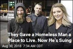 Homeless Man Says Couple Used Donations as 'Piggy Bank'