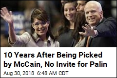 Sarah Palin Reportedly Not Invited to McCain's Funeral