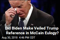 Biden May Have Made Veiled Trump Reference During McCain Eulogy