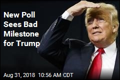 New Poll Sees Bad Milestone for Trump