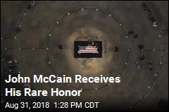 John McCain Receives His Rare Honor