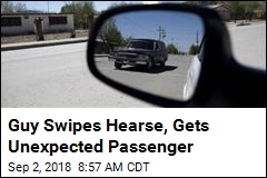 Guy Swipes Hearse, Gets Unexpected Passenger