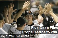 Five Deep Flies Propel Astros to Win