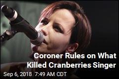 Coroner: Dolores O'Riordan Accidentally Drowned