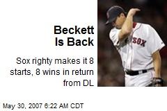Beckett Is Back