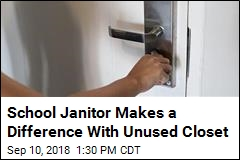School Janitor Makes a Difference With Unused Closet