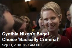 Cynthia Nixon Has to Defend Her ... Bagel Choice