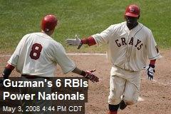 Guzman's 6 RBIs Power Nationals