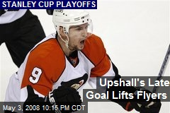 Upshall's Late Goal Lifts Flyers