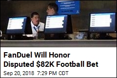 FanDuel Will Honor Disputed $82K Football Bet