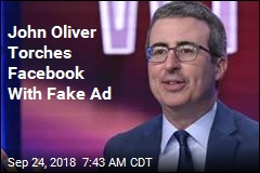 John Oliver Has New Ad for 'Fetid Swamp' Facebook