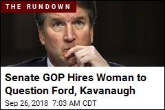 GOP Hires Female Prosecutor to Question Ford, Kavanaugh