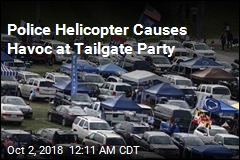 Police Helicopter Causes Havoc at Tailgate Party