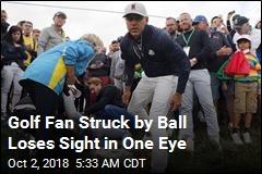 Golf Fan Struck by Ball Loses Sight in One Eye