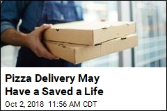 Pizza Delivery Aids in Woman's Rescue