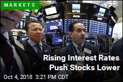 Rising Interest Rates Push Stocks Lower