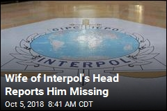 Wife of Interpol's Head Reports Him Missing