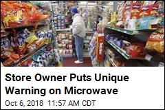 Store Owner Puts Unique Warning on Microwave