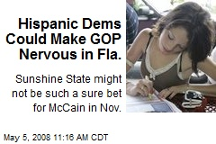 Hispanic Dems Could Make GOP Nervous in Fla.