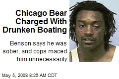 Chicago Bear Charged With Drunken Boating