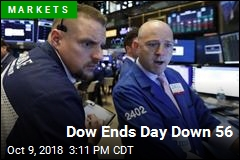 Dow Ends Day Down 56