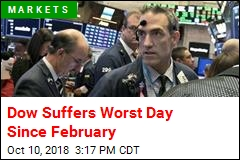 Dow Suffers Worst Day Since February